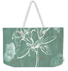 Jardin Botanique Aqua Weekender Tote Bag