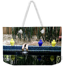 Weekender Tote Bag featuring the photograph Jardin Majorelle by Andrew Fare