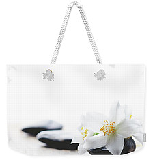 Jasmine Flower On Spa Stones Weekender Tote Bag