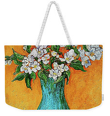 Jasmine Flowers In A Blue Pot Weekender Tote Bag