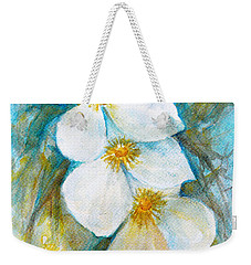 Weekender Tote Bag featuring the painting Jasmine by Jasna Dragun