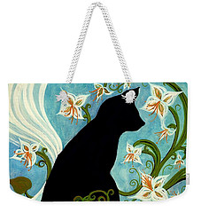 Jasmine On My Mind - Le Chat Noir Weekender Tote Bag by Janine Riley