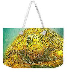 Jasmine The Turtle Weekender Tote Bag by Erika Swartzkopf