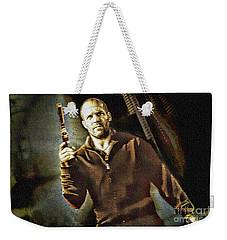 Jason Statham - Actor Painting Weekender Tote Bag