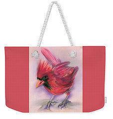 Jaunty Redbird Cardinal Weekender Tote Bag