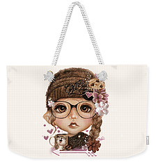 Weekender Tote Bag featuring the drawing Java Joanna by Sheena Pike