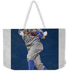 Javier Baez Chicago Cubs Art Weekender Tote Bag by Joe Hamilton