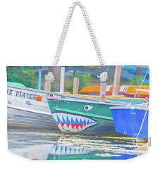 Jaws Weekender Tote Bag by Pamela Williams