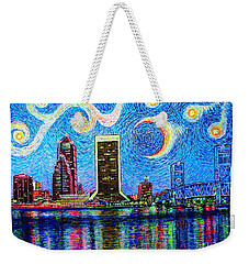 Weekender Tote Bag featuring the painting Jax,fla #2 by Viktor Lazarev
