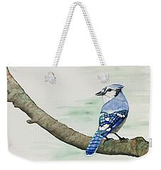Jay In The Pine Weekender Tote Bag