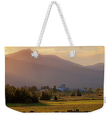 Weekender Tote Bag featuring the photograph Jay Peak Misty Sunset by Alan L Graham