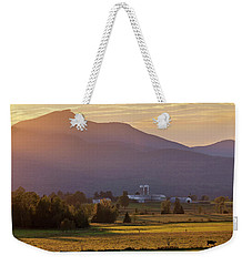 Weekender Tote Bag featuring the photograph Jay Peak September Sunset by Alan L Graham