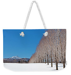 Jay Peak Winter Landscape Weekender Tote Bag
