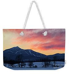 Jay Peak Winter Twilight Weekender Tote Bag