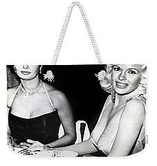 Jayne Mansfield Hollywood  Actress Sophia Loren 1957 Weekender Tote Bag