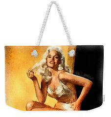 Jayne Mansfield Hollywood Actress And Pinup Weekender Tote Bag by Frank Falcon