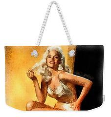 Jayne Mansfield Hollywood Actress And Pinup Weekender Tote Bag