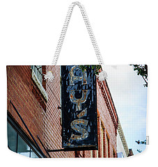 Weekender Tote Bag featuring the photograph Jay's Sign by Doug Camara