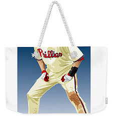 Weekender Tote Bag featuring the digital art Jayson Werth by Scott Weigner