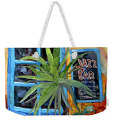 Jazz Bar In Santorini Weekender Tote Bag