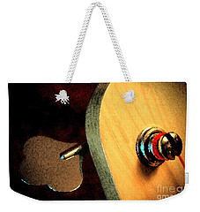 Weekender Tote Bag featuring the digital art Jazz Bass Tuner by Todd Blanchard