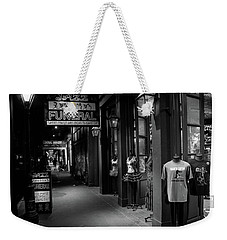 Weekender Tote Bag featuring the photograph Jazz Funeral In Black And White by Greg Mimbs