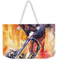 Jazz Miles Davis 9 Red Weekender Tote Bag