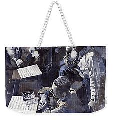 Jazz Parker Tristano Bauer Safransky Rca Studio Ny 1949 Weekender Tote Bag