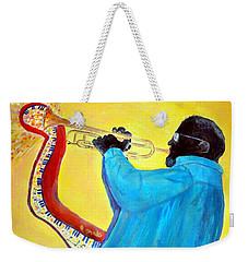 Jazzy Trumpet Player Weekender Tote Bag