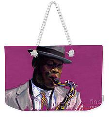 Jazz Saxophonist Weekender Tote Bag