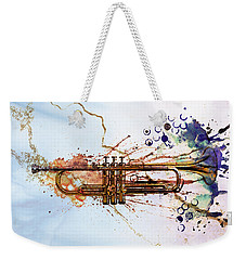 Jazz Trumpet Weekender Tote Bag by David Ridley