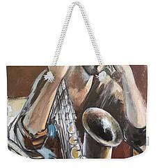 Jazz.saxophone Player Painting  Weekender Tote Bag