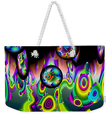 Weekender Tote Bag featuring the digital art Jazzin It Up by Lynda Lehmann