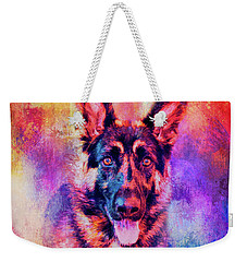 Jazzy German Shepherd Colorful Dog Art By Jai Johnson Weekender Tote Bag
