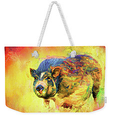 Jazzy Pig Colorful Animal Art By Jai Johnson Weekender Tote Bag