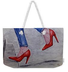 Jeans And Red Heels Weekender Tote Bag