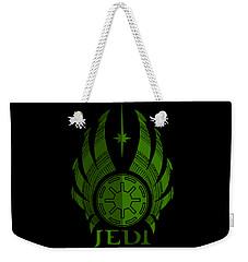 Jedi Symbol - Star Wars Art, Green Weekender Tote Bag