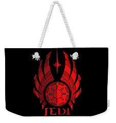 Jedi Symbol - Star Wars Art, Red Weekender Tote Bag