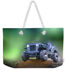 Weekender Tote Bag featuring the photograph Jeep by Charuhas Images