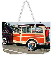 Weekender Tote Bag featuring the photograph Jeepster by Vinnie Oakes