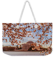 Jefferson Memorial And Cherry Blossom Weekender Tote Bag by Rima Biswas
