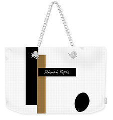 Weekender Tote Bag featuring the mixed media Jehovah Rophe by Jessica Eli