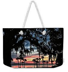Jekyll Island Georgia Sunset Weekender Tote Bag by Walt Foegelle