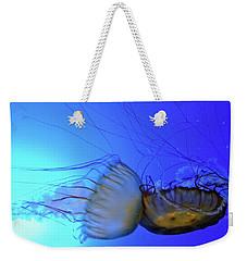 Jellyfish Collision Weekender Tote Bag