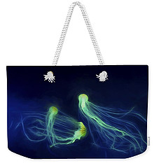 Weekender Tote Bag featuring the photograph Jellyfish Tango by Steven Richardson