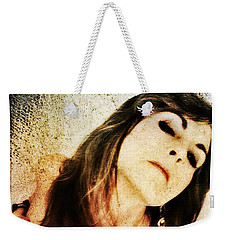 Weekender Tote Bag featuring the digital art Jenn 2 by Mark Baranowski