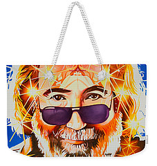 Weekender Tote Bag featuring the painting Jerry Garcia-dark Star by Joshua Morton