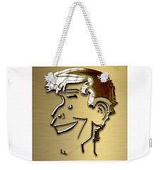 Weekender Tote Bag featuring the mixed media Jerry Lewis Tribute by Marvin Blaine