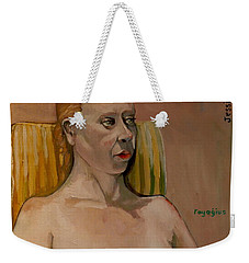 Weekender Tote Bag featuring the painting Jessica S by Ray Agius