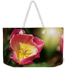 Weekender Tote Bag featuring the mixed media Jessica by Trish Tritz